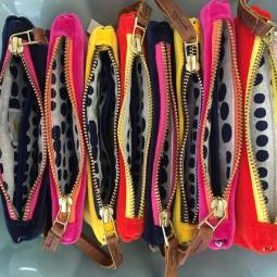 Velvet & Linen Wristlet $42